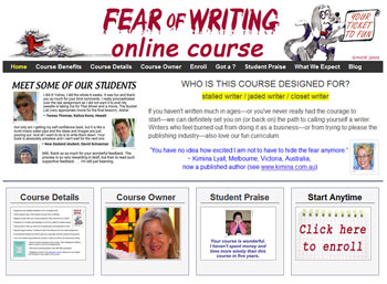 The Fear of Writing Online Course: your ticket to fun!