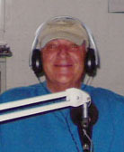 """Aussie"" Al McCartan, doing the morning shift at 2MCE-FM in Bathurst, Australia"