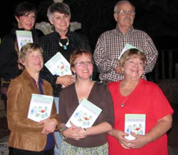 The members of the writing circle at their touching party