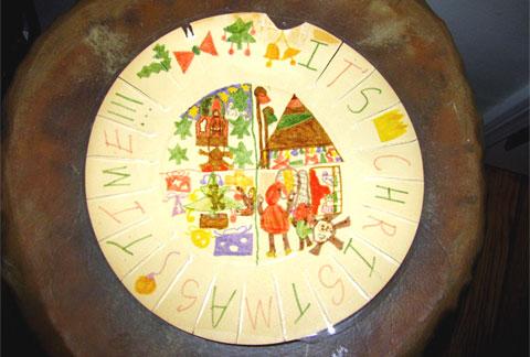Bonnie's Christmas plate