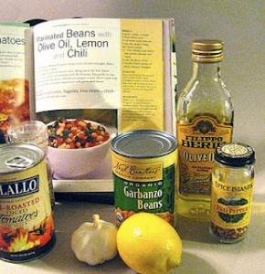 Marinated Beans with Olive Oil, Lemon and Chili from Organic Cookbook by Renée Elliott & Eric Treuillé
