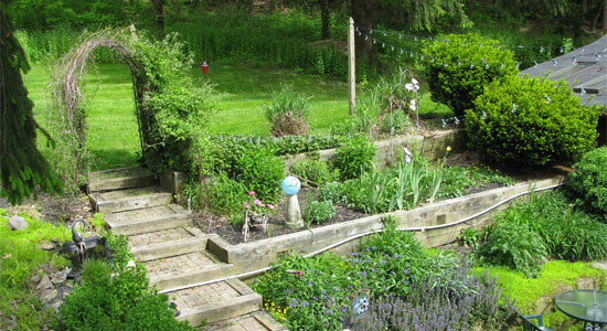 The herb garden at Angelwoods B&B