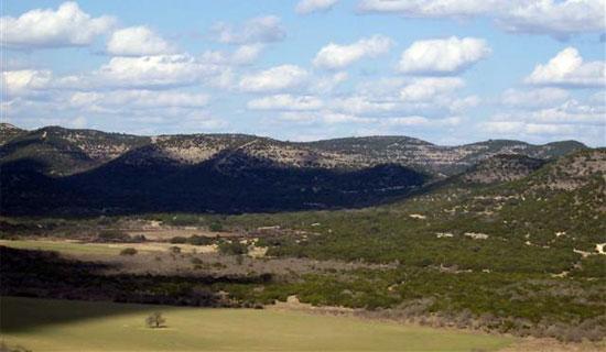 Texas landscape near Garner State Park