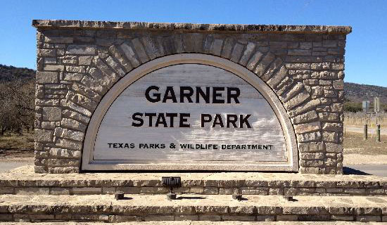 Garner State Park entrance sign