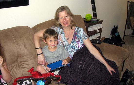 Milli Thornton with her grandson, Atreyu