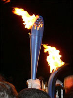 Olympic flame, Varese 30-01-2006, Image Courtesy Michele Petino, Wikimedia Commons